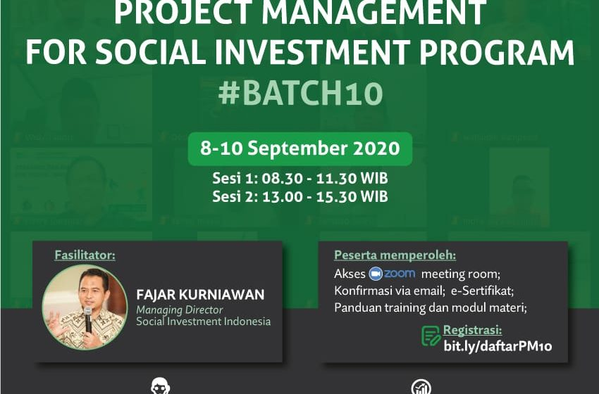 Project Management for Social Investment Program #Batch10